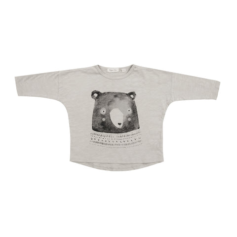 Rylee and Cru Mr. Bear Long Sleeve Shirt in Dove