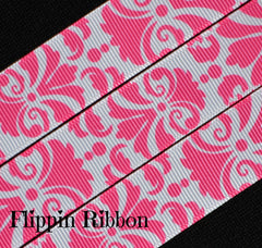 Damask and Floral Ribbon