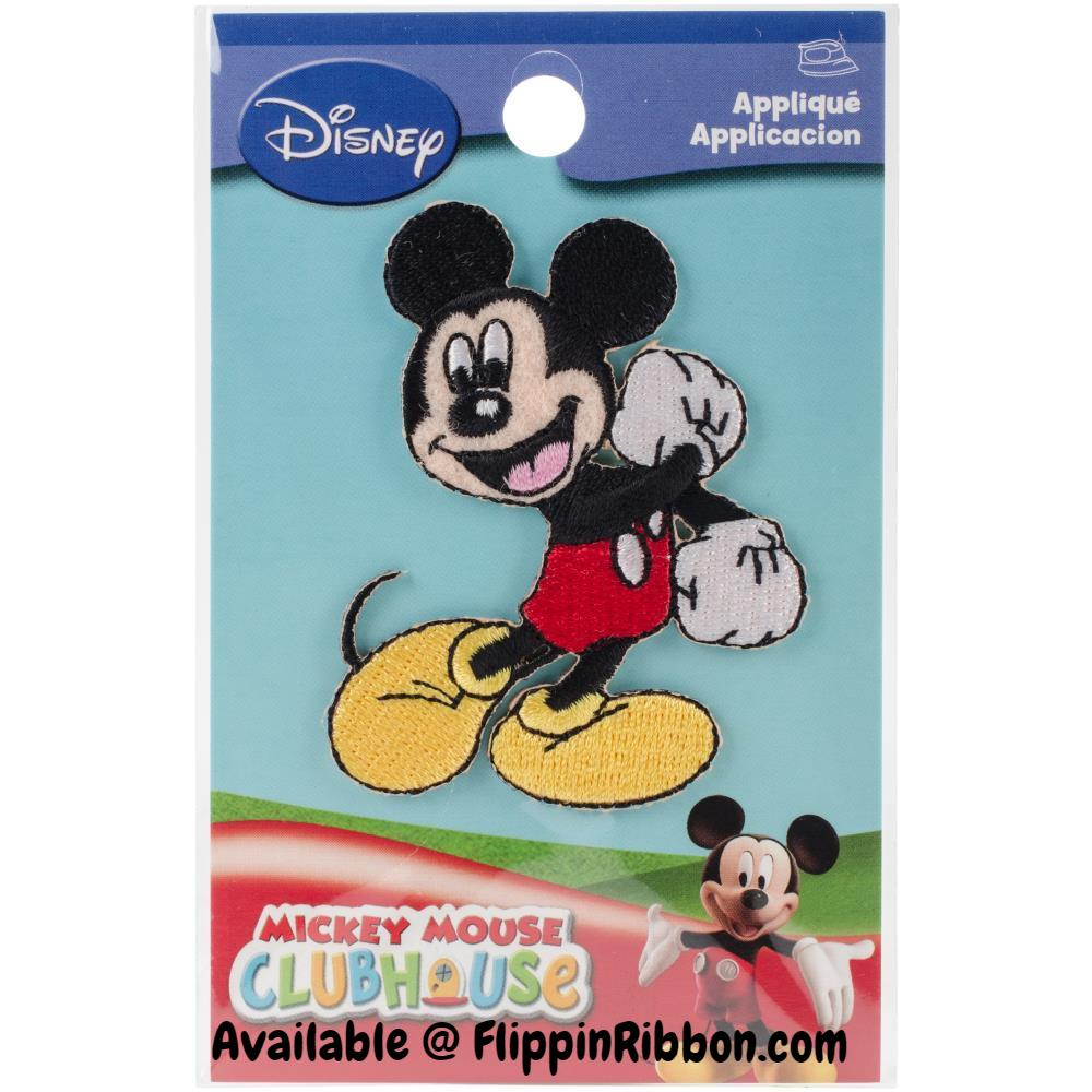 Mickey Mouse Iron-on Applique - Flippin Ribbon