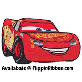 Lightning McQueen  Iron-on Applique - Flippin Ribbon