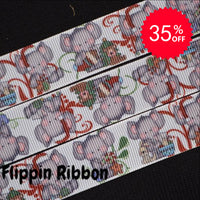 Christmas Elephant ribbon