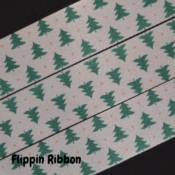 twill Christmas tree ribbon - Flippin Ribbon