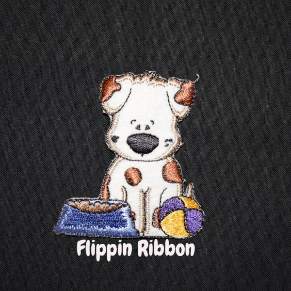 Adorable Doggy Iron-on Applique - Flippin Ribbon