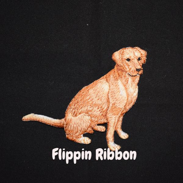 Golden Retriever Iron-on applique - Flippin Ribbon