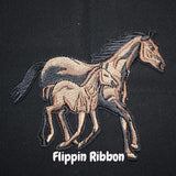 Horse with Colt Iron-on Applique - Flippin Ribbon
