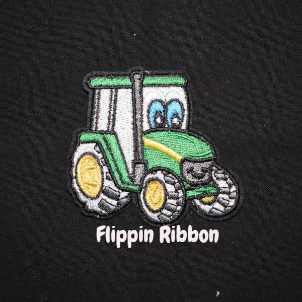Green Tractor Iron-on Applique - Flippin Ribbon