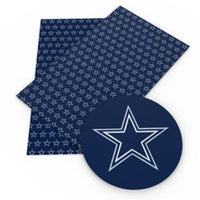Inspired Dallas Cowboys Star Faux Leather - Flippin Ribbon