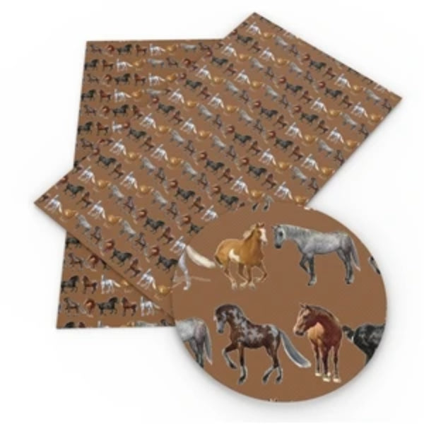 Horse Faux Leather - Flippin Ribbon