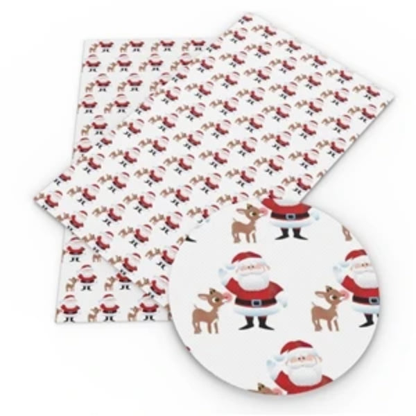 Inspired Rudolph and Santa Faux Leather - Flippin Ribbon