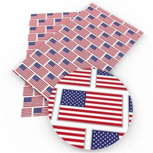American Flag Faux Leather - Flippin Ribbon