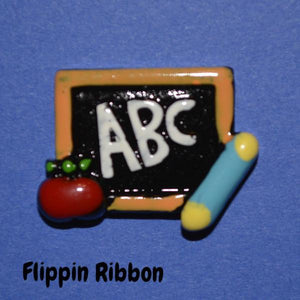 chalkboard resin embellishment