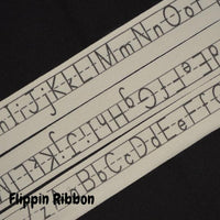 cotton alphabet ribbon