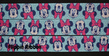 Aqua Minnie Mouse ribbon - Flippin Ribbon