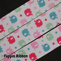 grosgrain elephant ribbon - Flippin Ribbon