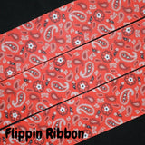 Red Bandana Ribbon - Flippin Ribbon