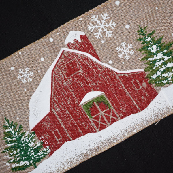 Snowy Barn Ribbon - Flippin Ribbon