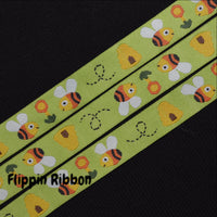 bumble bee jacquard ribbon