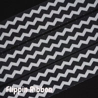 black chevron grosgrain ribbon