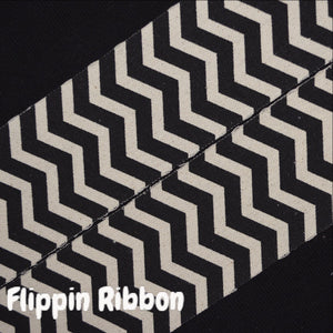black chevron canvas ribbon