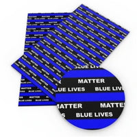 Blue Lives Matter Faux Leather - Flippin Ribbon
