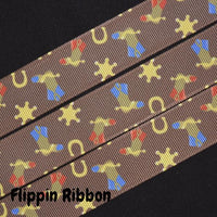 cowboy boot grosgrain ribbon - Flippin Ribbon