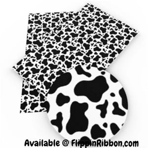 Cow Print Faux Leather - Flippin Ribbon