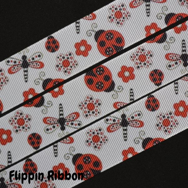 dragonfly and ladybug ribbon - Flippin Ribbon