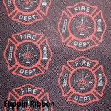 Fire Department Synthetic Leather - Flippin Ribbon