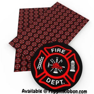 Fire Department Faux Leather - Flippin Ribbon