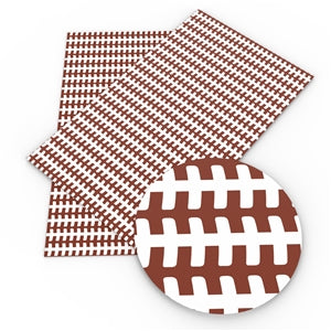 Football Laces Faux Leather - Flippin Ribbon