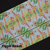 giraffe grosgrain ribbon - Flippin Ribbon