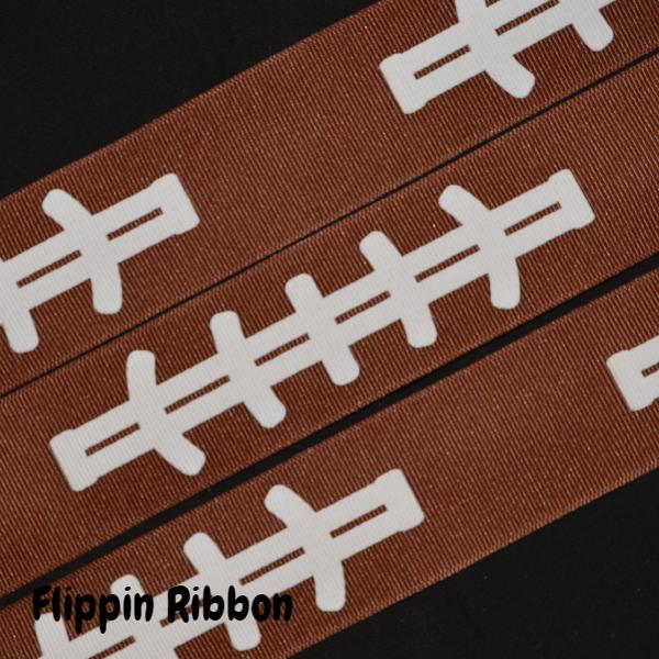 wide football ribbon - Flippin Ribbon