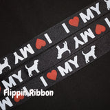 I Love My Dog Ribbon - Flippin Ribbon
