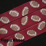 maroon football ribbon