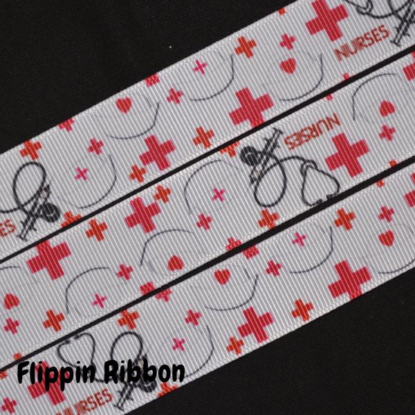 nurses grosgrain ribbon - Flippin Ribbon