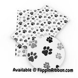 Puppy Feet Faux Leather - Flippin Ribbon