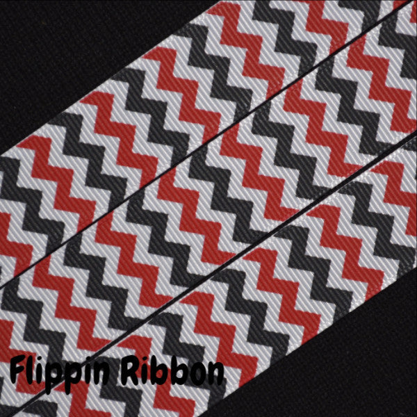 red and black chevron ribbon