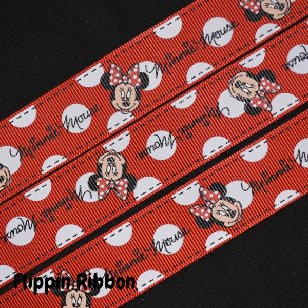 red Minnie Mouse ribbon - Flippin Ribbon
