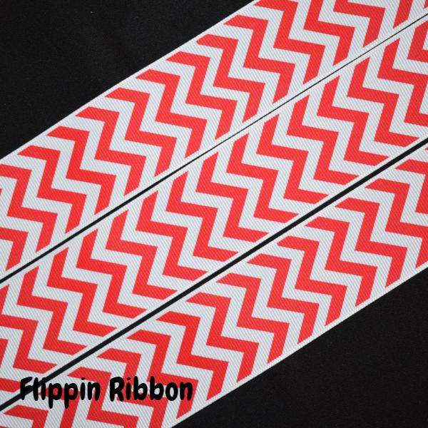 Red Chevron Ribbon - Flippin Ribbon