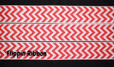 Red Chevron Zigzag Ribbon - Flippin Ribbon