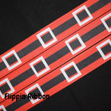 Santa belt grosgrain Christmas ribbon - Flippin Ribbon
