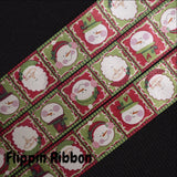 Santa and snowman Christmas satin ribbon - Flippin ribbon