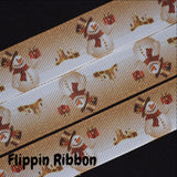 Christmas snowman grosgrain ribbon