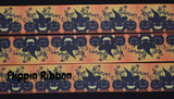 spooky pumpkin Halloween grosgrain ribbon