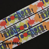 Teachers Rock ribbon - Flippin Ribbon