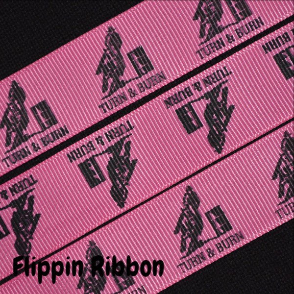 turn and burn barrel racing ribbon