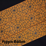 wide spider web grosgrain ribbon