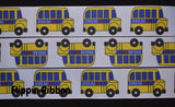 school bus grosgrain ribbon - Flippin Ribbon