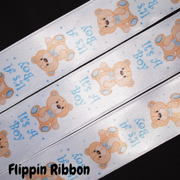 It's a Boy Wired Ribbon - Flippin Ribbon