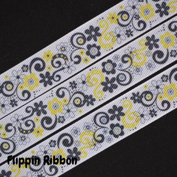yellow flower ribbon - Flippin Ribbon